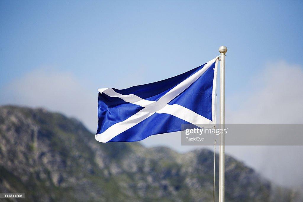 Flagge von Schottland : Stock-Foto