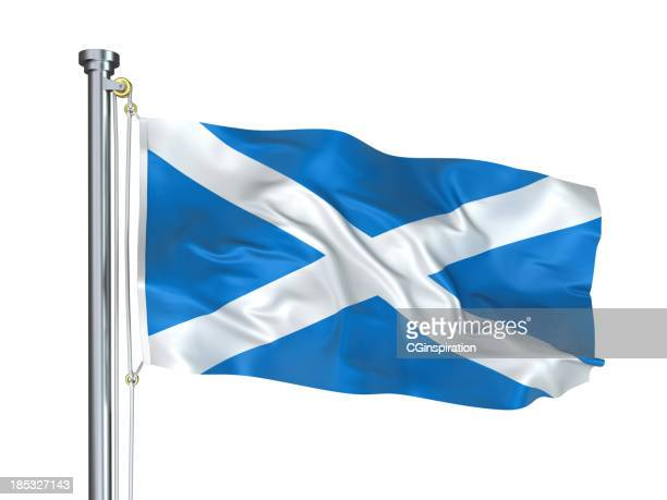 flag of scotland - scotland flag stock photos and pictures