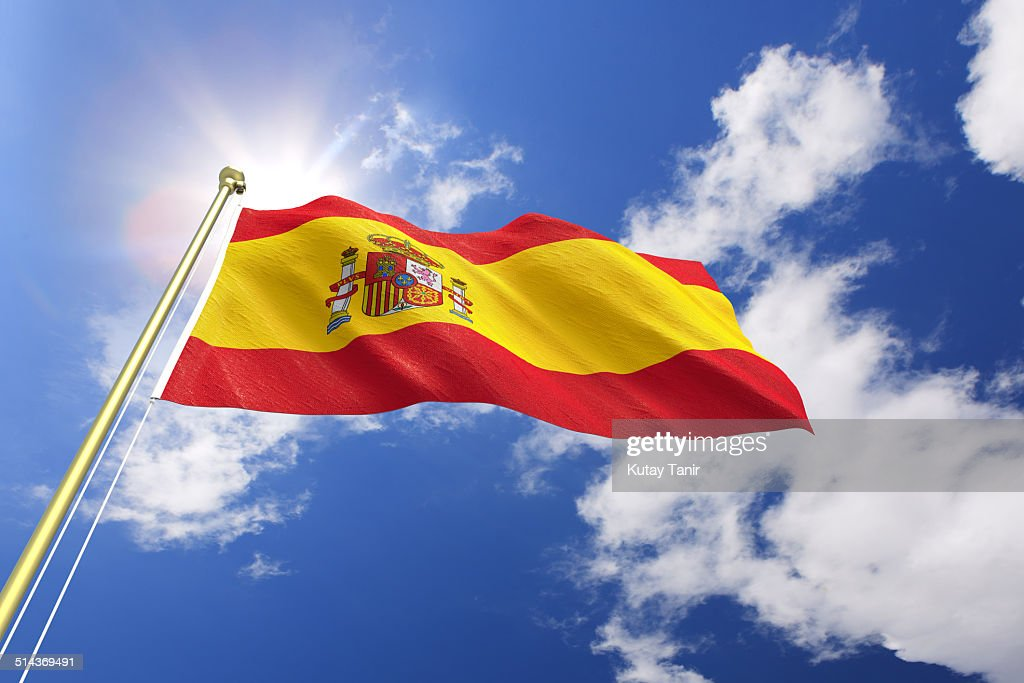 Flag of Spain : Stock Photo