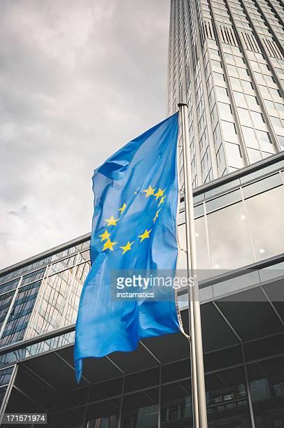 Flagge der Europäischen Gemeinschaft in Frankfurt am Main