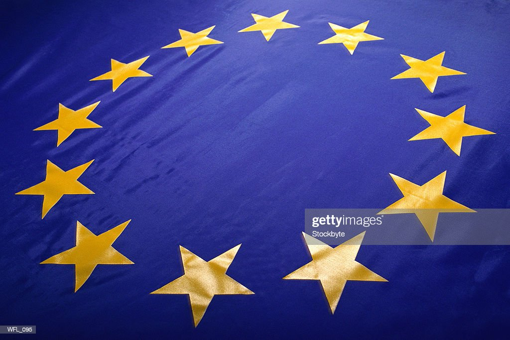 Flag of the European Union, Close-Up : Stock Photo