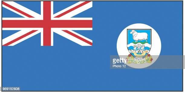 Flag of the Falkland islands.