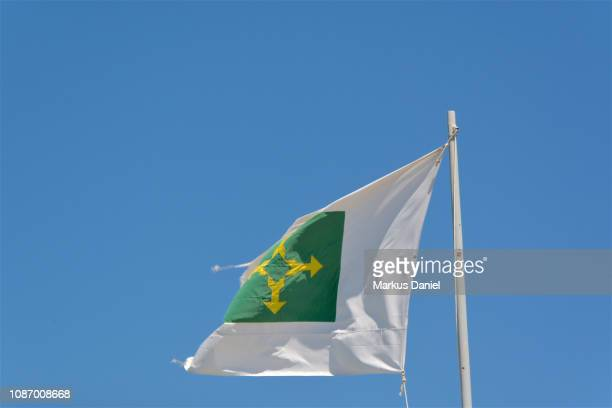 flag of the federal district brazil (distrito federal, brasilia) - distrito federal brasilia stock pictures, royalty-free photos & images