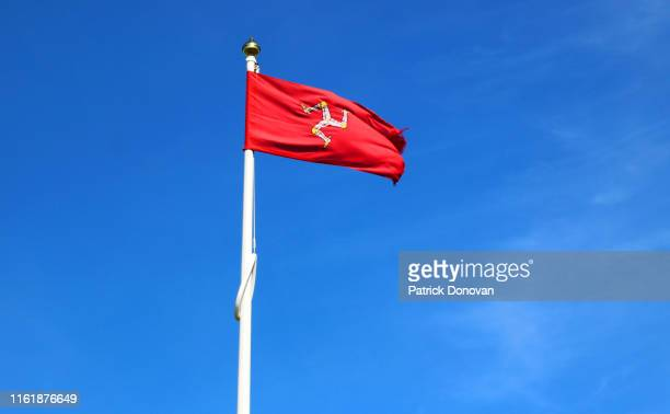 flag of the isle of man - isle of man stock pictures, royalty-free photos & images