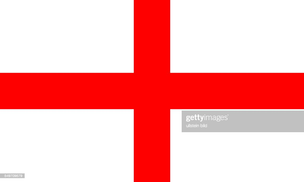 Flag of the Kingdom of England. : Fotografía de noticias