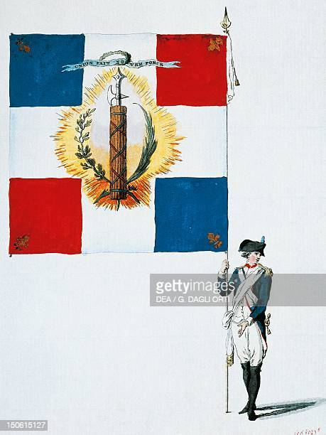 Flag of the Saint Severin district in Paris used during the French Revolution France 18th century