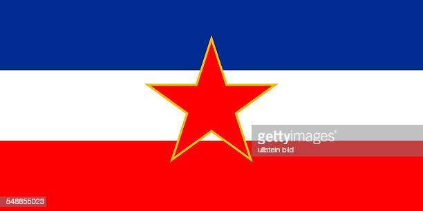 Flag of the Socialist Federal Republic of Yugoslavia SFRY of 1943 to 1992
