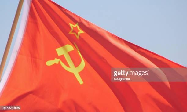 flag of the soviet union - communisme photos et images de collection