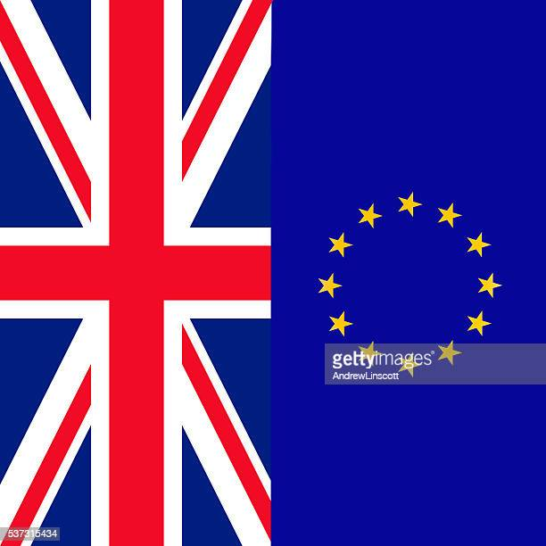 Flag of the United Kingdom and the EU