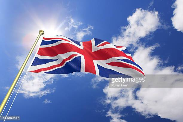 flag of the united kingdom - groot brittannië stockfoto's en -beelden