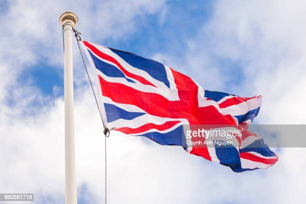 flag of the united kingdom - bandiera inglese foto e immagini stock