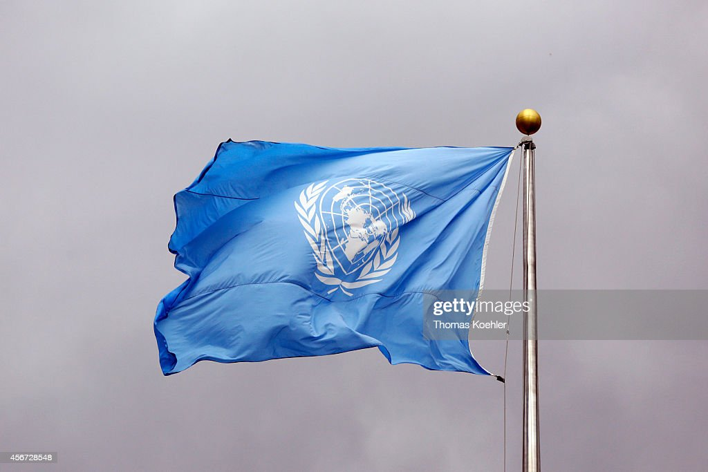 Flag Of The United Nations : News Photo