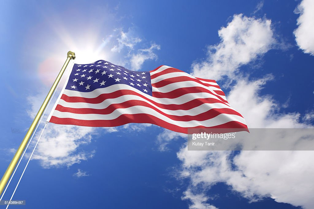 Flag of the United States : Stock Photo