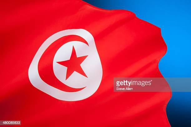 flag of tunisia - north africa - drapeau tunisien photos et images de collection