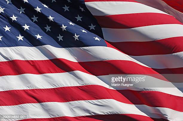 Flag of United States of America, close-up