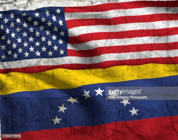 flag of venezuela and usa flag texture horizontal - venezuela stock pictures, royalty-free photos & images