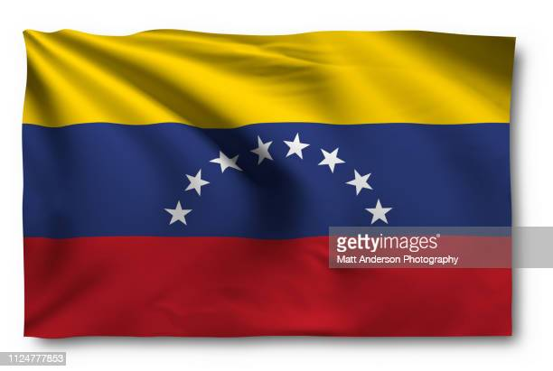 flag of venezuela on white - dictator stock pictures, royalty-free photos & images