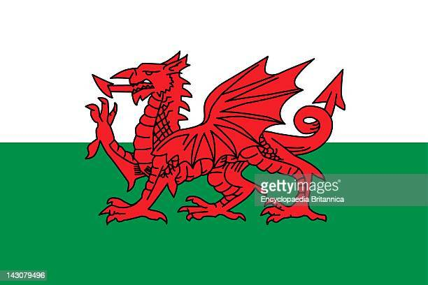 Flag Of Wales A Constituent Unit Of The United Kingdom That Forms A Westward Extension Of The Island Of Great Britain