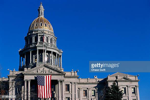 Flag on Colorado State Capitol