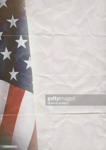usa flag on creased paper - fourth of july background stock pictures, royalty-free photos & images