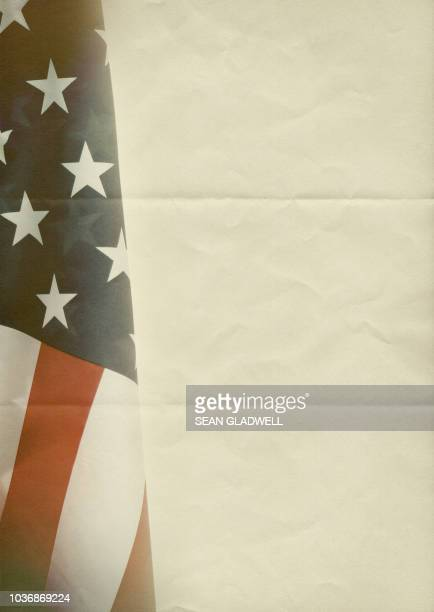 usa flag on folded paper - politics abstract stock pictures, royalty-free photos & images