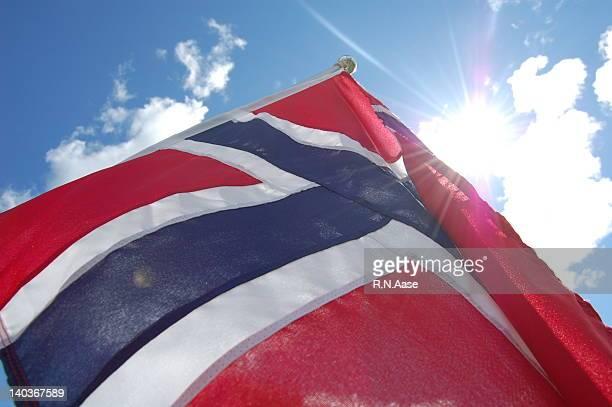 Flag on Norwegian National day