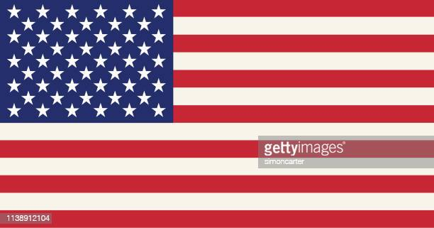 usa flag - event icon set stock photos and pictures