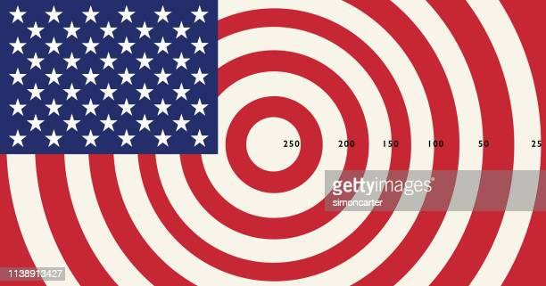usa flag - icon set stock photos and pictures