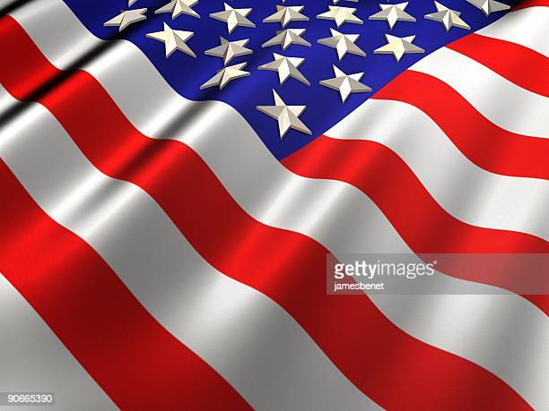 3d us flag - fourth of july background stock pictures, royalty-free photos & images