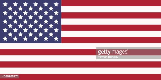 usa flag simple illustration for independence day or election - stars and stripes stock pictures, royalty-free photos & images