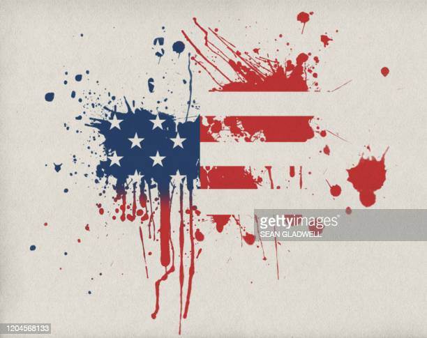usa flag splatter - terrorism stock pictures, royalty-free photos & images