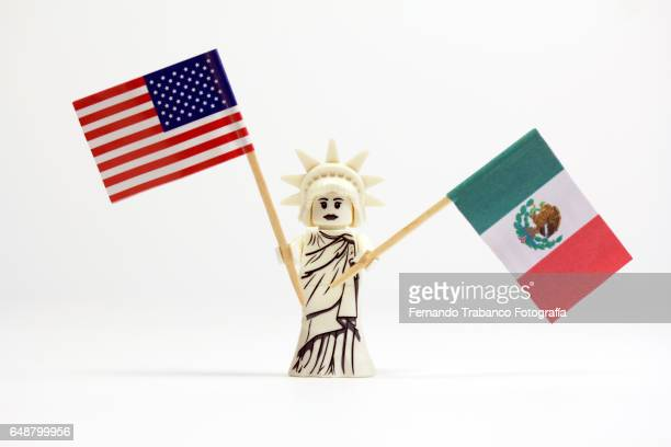 Flag United States and Mexico