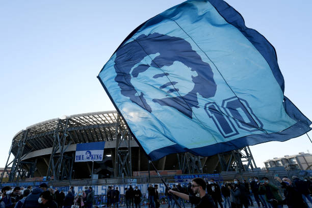 ITA: Diego Armando Maradona Death Mourning In Naples