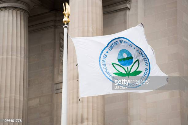 A flag with the EPA logo flies in front of the Environmental Protection Agency on Tuesday Jan 1 2019