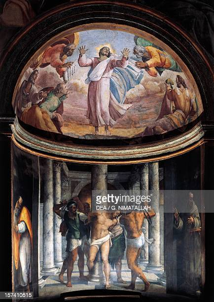Flagellation of Jesus and the Ascension 15171524 frescoes by Sebastiano del Piombo Borgherini Chapel Church of St Peter in Montorio Rome Italy 16th...