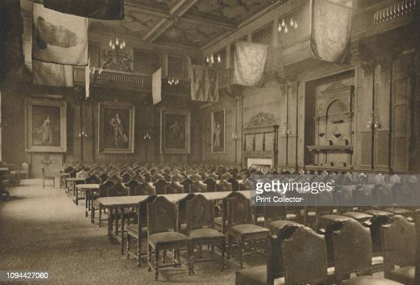 FlagHung Great Hall in Which the Powerful Company of Grocers Holds Its Banquets' circa 1935 Hall of the Worshipful Company of Grocers one of the...