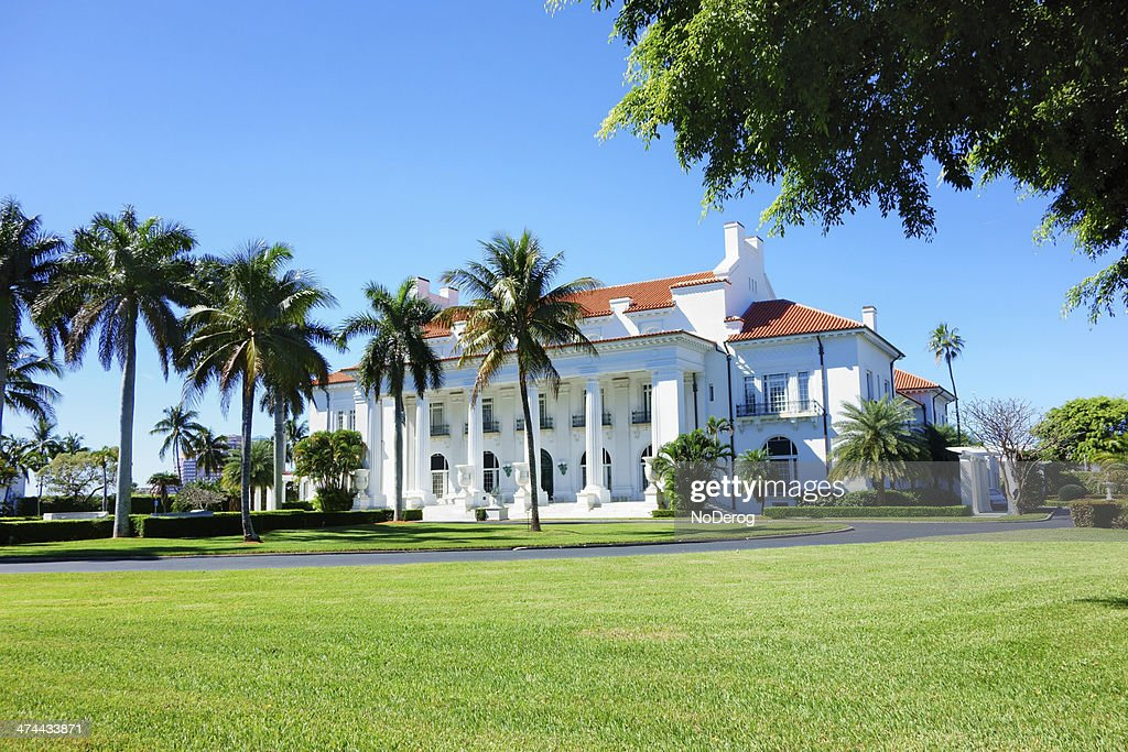 Flagler Museum, Palm Beach, Florida : Stock Photo