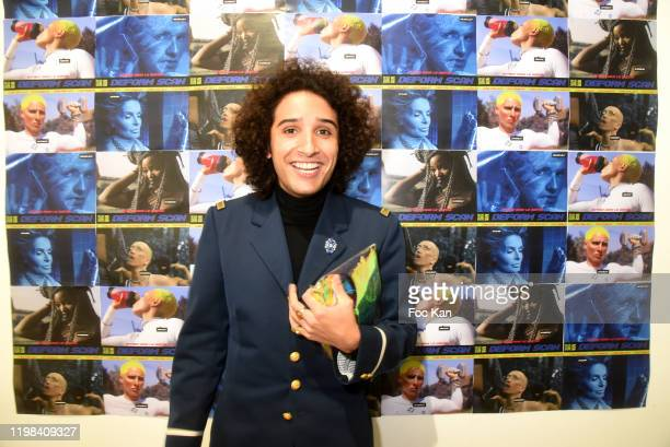 Flagrance creator Alexandre Helwani attend «Deform Scan» Premiere Exhibition Preview at Galerie W Landeau on January 8 2020 in Paris France
