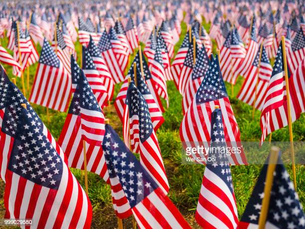 flags 02 - happy memorial day stock pictures, royalty-free photos & images