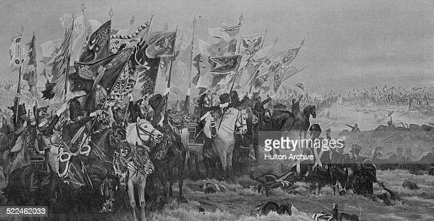 Flags and Standards are paraded for Emperor Napoleon Bonaparte after the French Grande Armee defeats the Imperial RussoAustrian army commanded by...