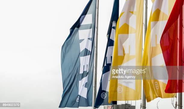 IKEA flags are seen at IKEA store in Amsterdam Netherlands on December 18 2017 The European Commission is to open an indepth investigation into IKEAs...