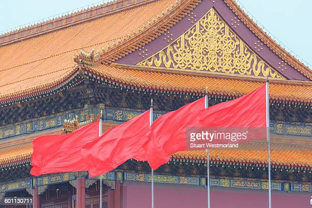 Flags At Tien An Mien High Res Stock Photo Getty Images