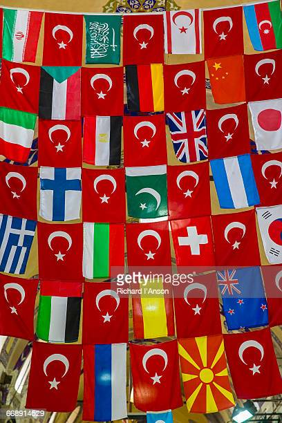 Flags displayed at the Grand Bazaar