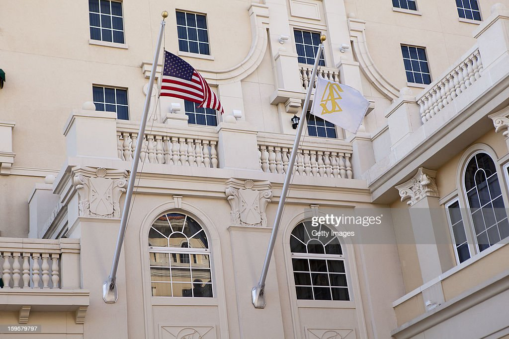 Flags fly at a headquarters for the Church of Scientology January 16, 2013 in Clearwater, Florida. A book, 'Going Clear: Scientology, Hollywood & the Prison of Belief' that is sent to be released January 17, has renewed interest in the religion that counts actors Tom Cruise and John Travolta as followers.