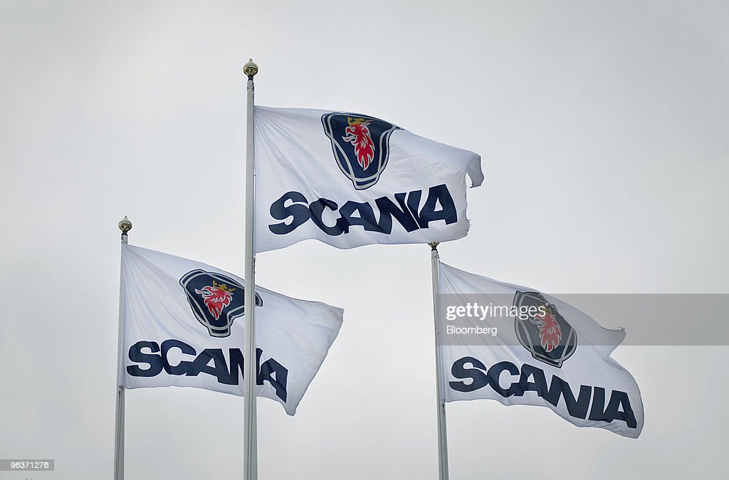 scania trucks production line photos and images