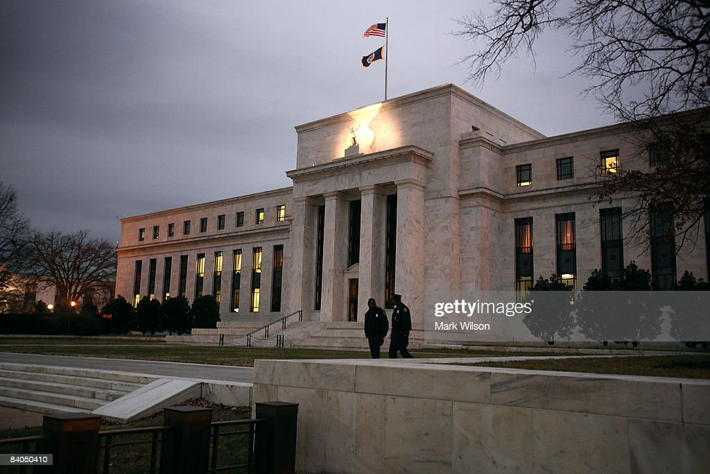 The Federal Reserve Begins Last Meeting Of 2008 : News Photo