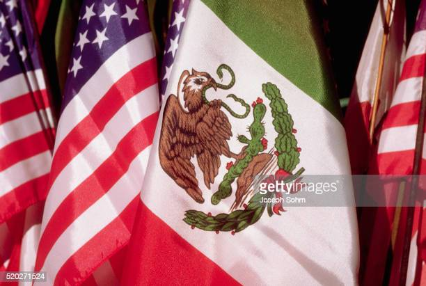 flags for cinco de mayo - mexican flag stock pictures, royalty-free photos & images