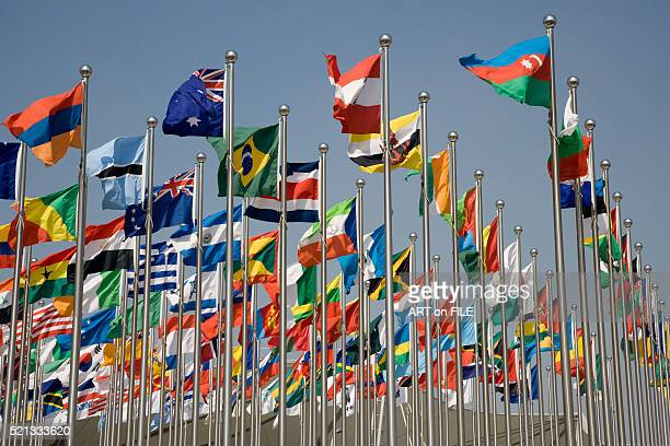 flags from all countries - global politics stock pictures, royalty-free photos & images
