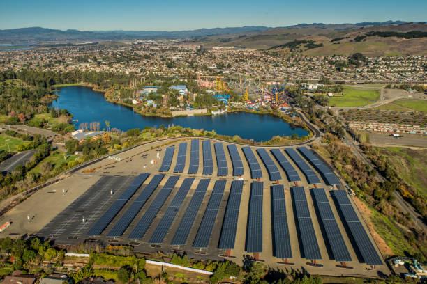 6 Flags Great Adventure Vallejo California solar panels