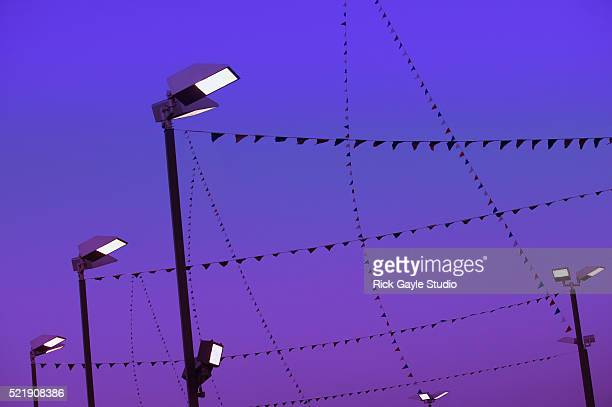 Flags Hanging from Lamp Posts